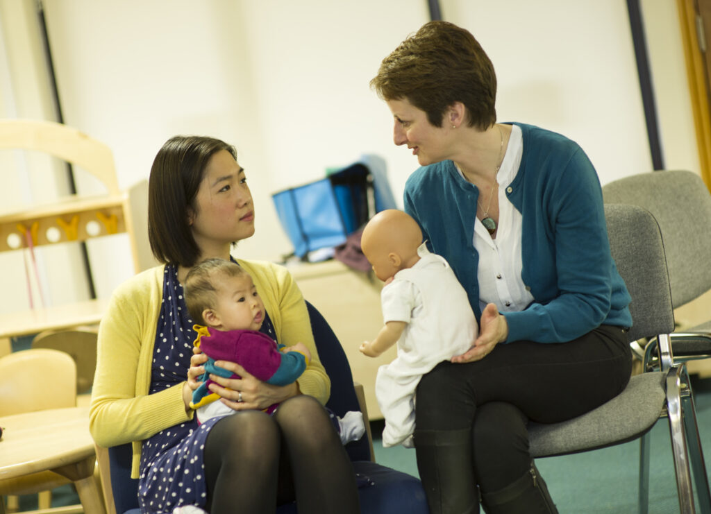 Breastfeeding counsellor at work in Cambridge